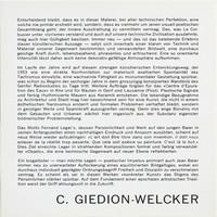 Jean Baier, Album: Text C. Giedion-Welcker, 1971