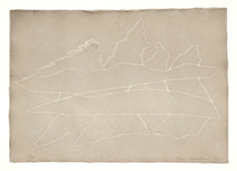 Meret Oppenheim, Wolken (II): Blatt Nr. 2, 1971
