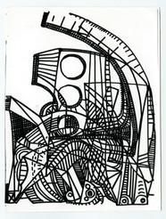Bernhard Luginbühl, BUMINELL - Figurenskizze zu Widder, 1966-67