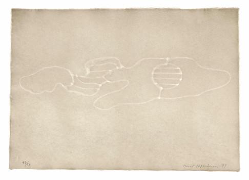 Meret Oppenheim, Wolken (II): Blatt Nr. 7, 1971