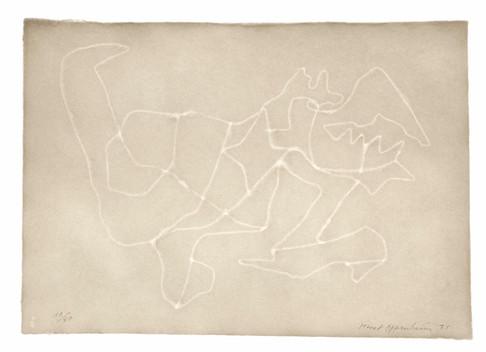 Meret Oppenheim, Wolken (II): Blatt Nr. 4, 1971