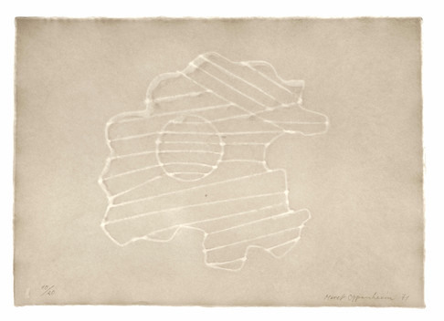 Meret Oppenheim, Wolken (II): Blatt Nr. 5, 1971