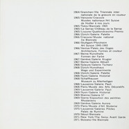 Jean Baier, Album: Liste mit Ausstellungen, 1971