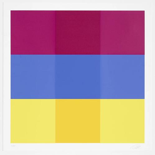 Richard Paul Lohse, Durchdringen von drei horizontalen Bändern, 1982