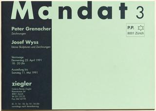 Mandat 3: Peter Grenacher: Zeichnungen, Josef Wyss: kleine Skulpturen und Zeichnungen