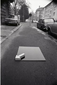 Gianfredo Camesi, Indication d'espace, 1969/70