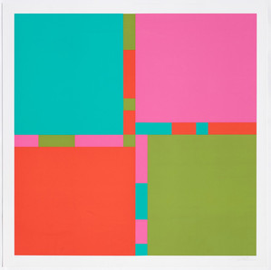Richard Paul Lohse, Vier Farbrhythmen an vier Feldern 1969, 1969