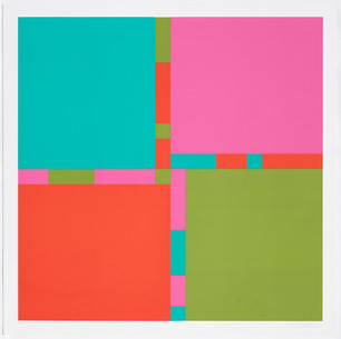 Richard Paul Lohse, Vier Farbrhythmen an vier Feldern, 1969
