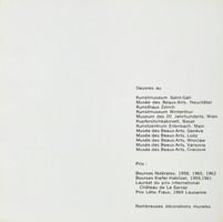 Jean Baier, Album: Liste mit Werken und Preisen, 1971