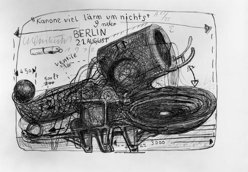 Bernhard Luginbühl, KANONE VIEL LÄRM UM NICHTS, 1972