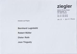 Arbeiten auf Papier: Bernhard Luginbühl, Robert Müller, Dieter Roth, Jean Tinguely