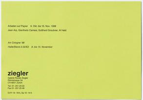 Arbeiten auf Papier: Jean Arp, Gianfredo Camesi, Gotthard Graubner, Al Held