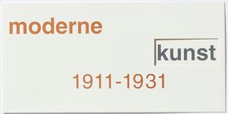 moderne kunst / ethnische kunst 1911-1931