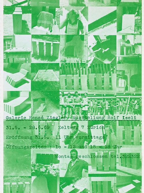 Poster - Ausstellung Rolf Iseli 1969