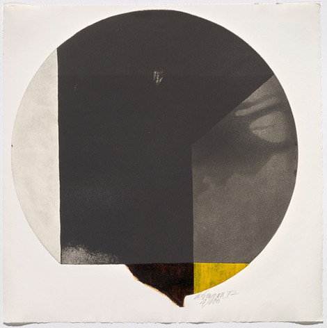 Rolf Lehmann - Suite de 10 aquatintes-collages, Blatt 5, 1972