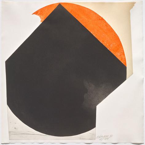 Rolf Lehmann - Suite de 10 aquatintes-collages, Blatt 7,1972