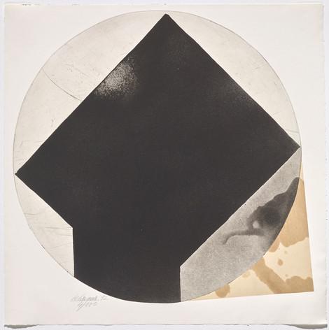 Rolf Lehmann - Suite de 10 aquatintes-collages, Blatt 10, 1972
