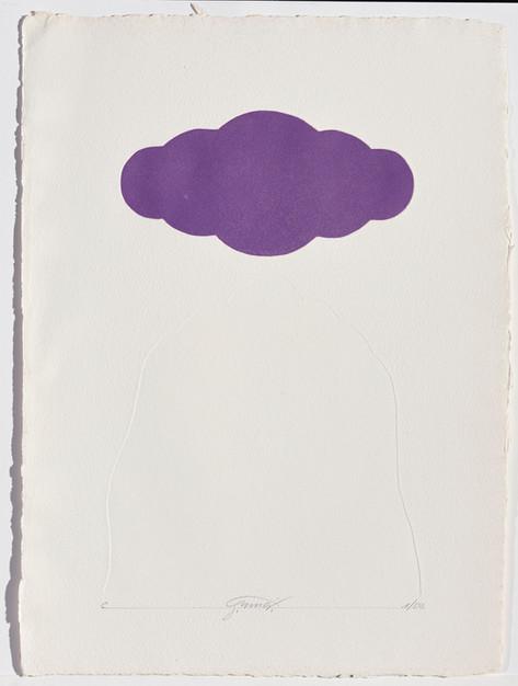 Gianfredo Camesi, Triptique et eau - forte, Wolke, 1973