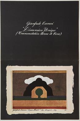 Gianfredo Camesi: Neueste Ölbilder und Objekte von 1974