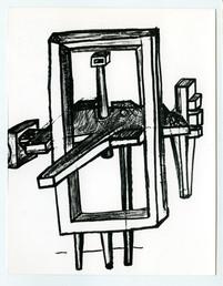 Bernhard Luginbühl, BUMINELL - Holzplastik, 1966-67