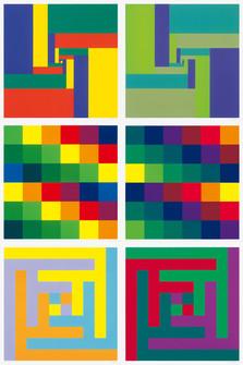 Richard Paul Lohse, Sechs Serigraphien, 1967