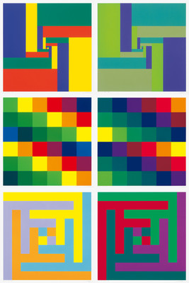 Richard Paul Lohse, Sechs Serigraphien,1967