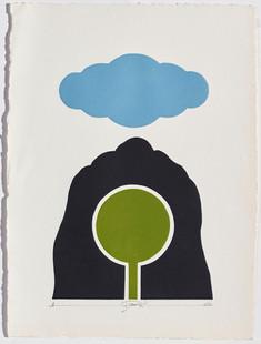 Gianfredo Camesi, Triptique et eau - forte, 1973