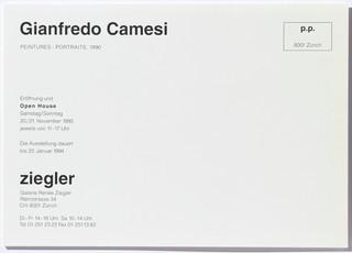 Gianfredo Camesi: Peintures - Portraits, 1990