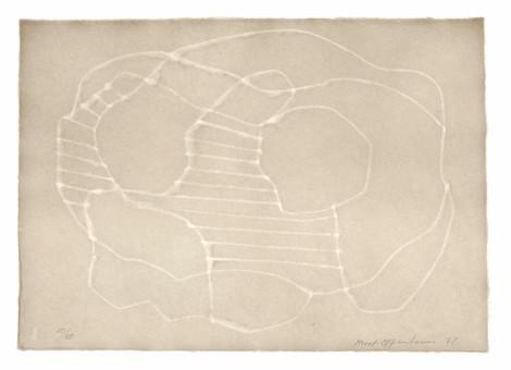 Meret Oppenheim, Wolken (II): Blatt Nr. 1, 1971