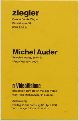 Michel Auder: Videoretrospektive
