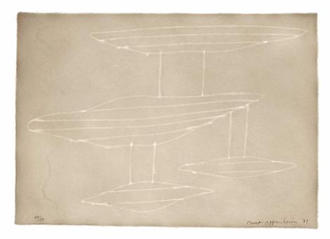 Meret Oppenheim, Wolken (II): Blatt Nr. 6, 1971