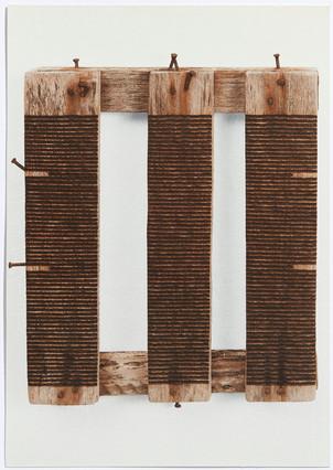 Roger Ackling: charred sunlight on driftwood