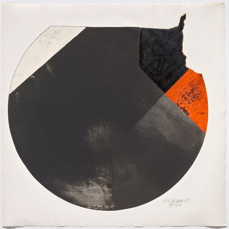 Rolf Lehmann - Suite de 10 aquatintes-collages, Blatt 4, 1972