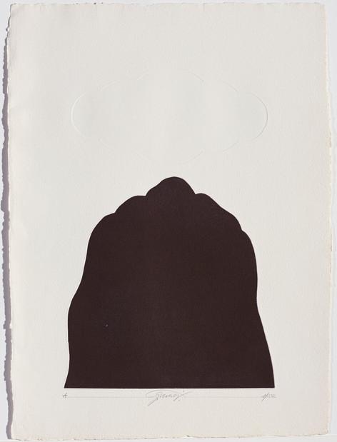 Gianfredo Camesi, Triptique et eau - forte, Berg,1973
