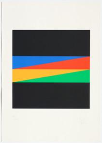 Max Bill, durchdringung von 4 farben, 1973