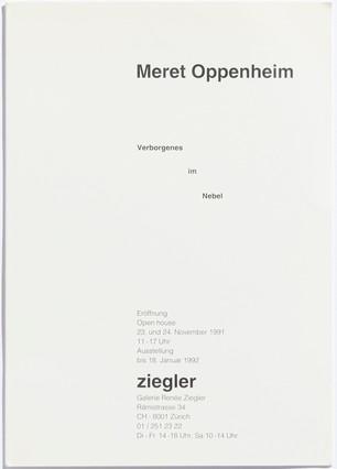 Meret Oppenheim: Verborgenes im Nebel