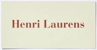 Henri Laurens - Arbeiten auf Papier