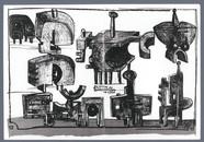 Bernhard Luginbühl, BUMINELL - Skizze, 1966-67