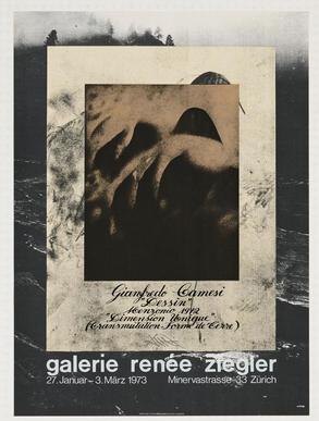 """Gianfredo Camesi: """"Dessin"""" Menzonio 1972 """"Dimension Unique"""""""