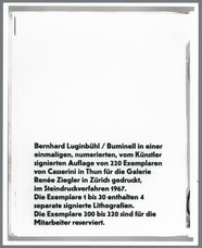 Bernhard Luginbühl, BUMINELL, 1966-67