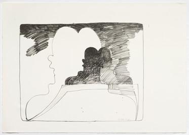 Dieter Roth, Selbstbild von hinten, 1973