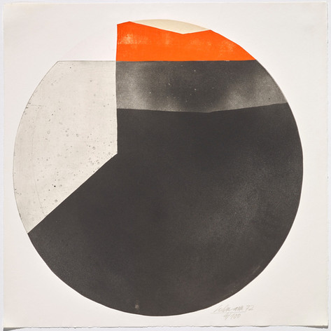 Rolf Lehmann - Suite de 10 aquatintes-collages, Blatt 9, 1972