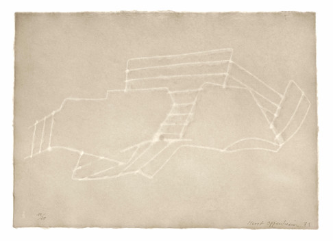 Meret Oppenheim, Wolken (II): Blatt Nr. 10, 1971