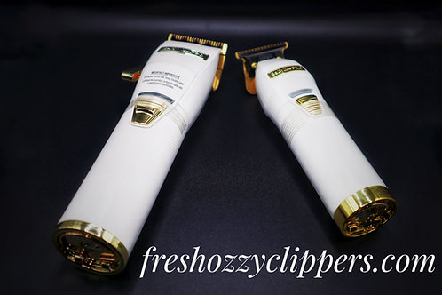 Babyliss white and gold combo set