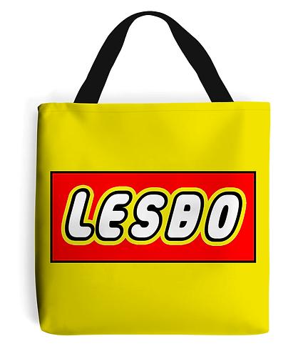 Lesbo! Funny, Lesbian Tote Bag