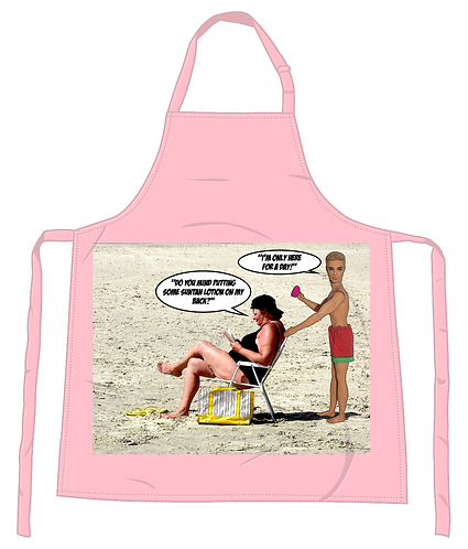 Only Here for a Day Apron
