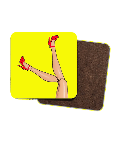 4 x Great Legs & Red Stilettos Drinks Coasters!
