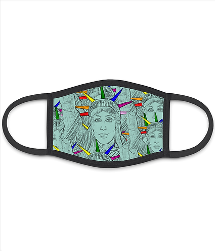 Cher's as the Statue of Liberty! Cool, Gay/LGBT Face Mask