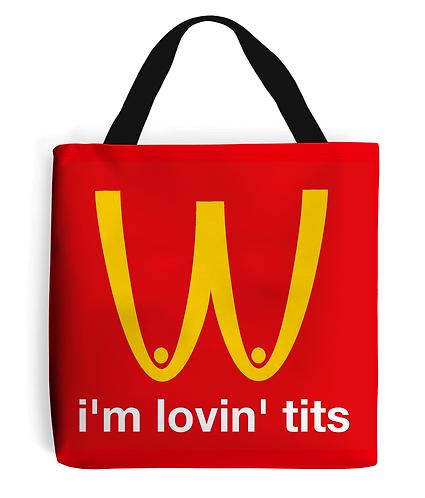 I'm Lovin Tits! LGBT, Tote Bag