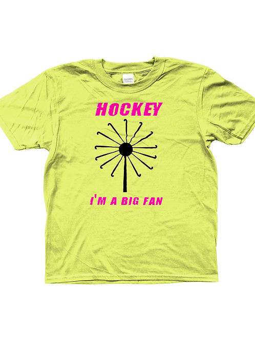 Big Fan! Funny, Kids Field Hockey T-Shirt